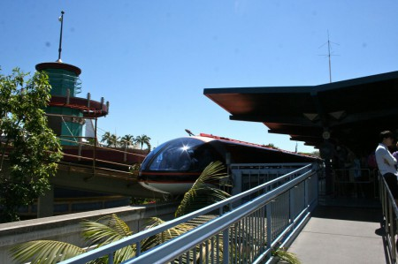 Monorail prepares to depart Tomorrowland
