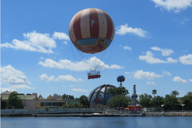 Characters In Flight and Disney Springs From the Air!