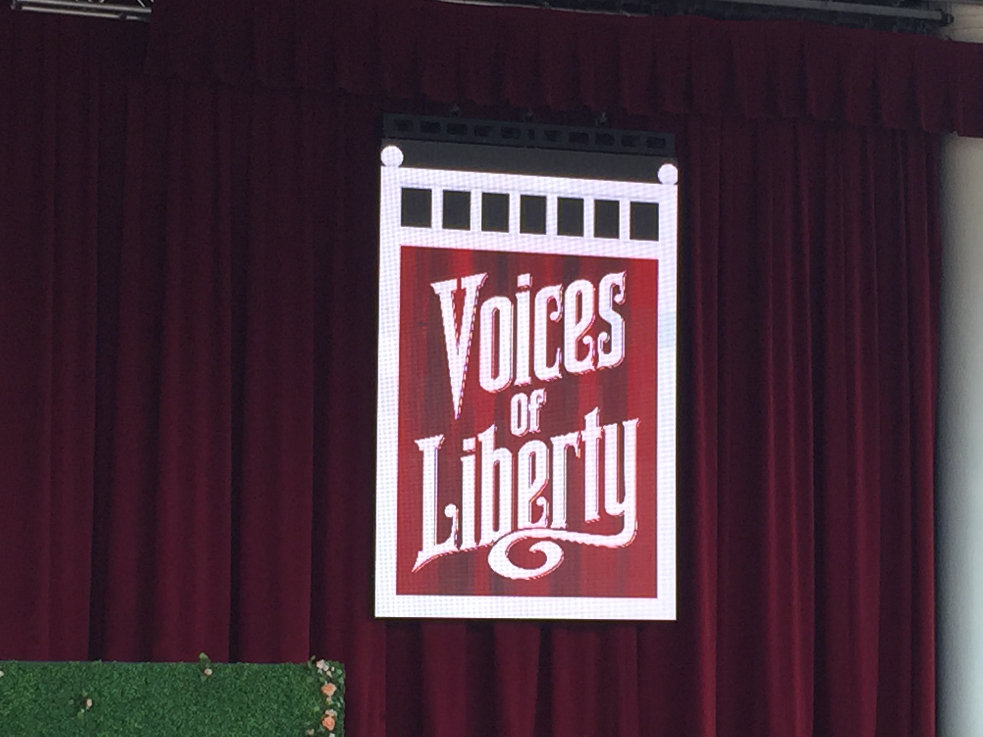 Voices of Liberty Step Outside to the American Gardens Theater