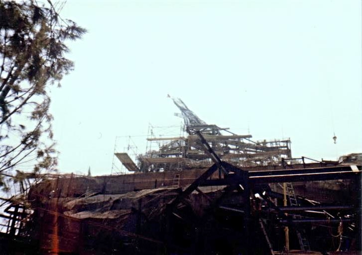 Splash Mountain Construction 1988