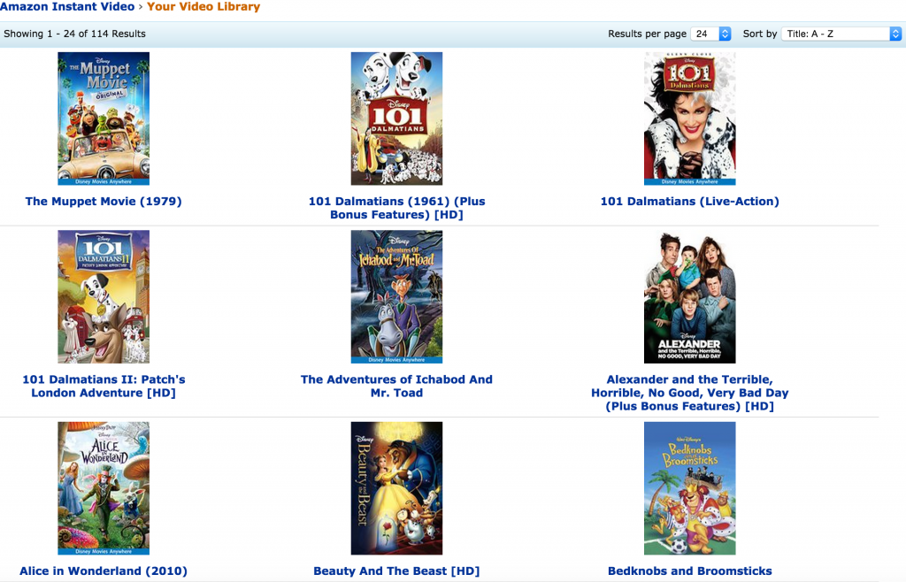 Amazon Video Library