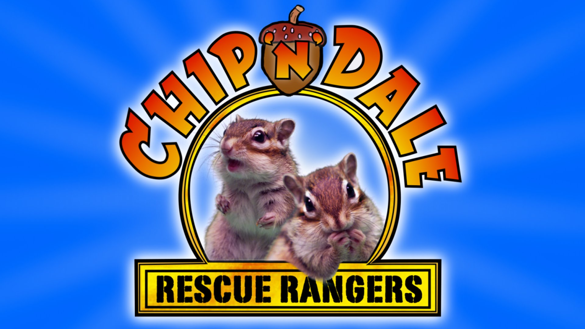 Chip 'n Dale Rescue Rangers With Real Chipmunks