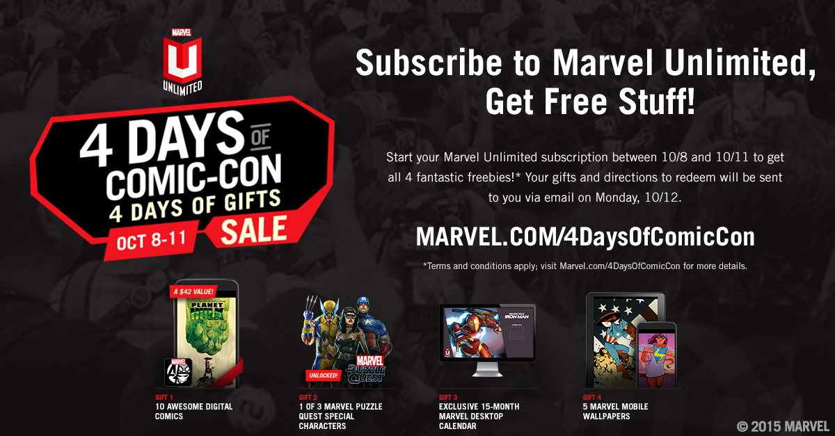 Marvel Unlimited Offering Special New York Comic Con Promotion