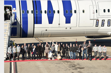 Star Wars Cast Jet Sets to London in R2-D2 Plane