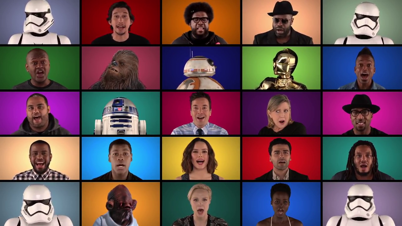An Incredible Star Wars Medley With the Cast of The Force Awakens and The Roots