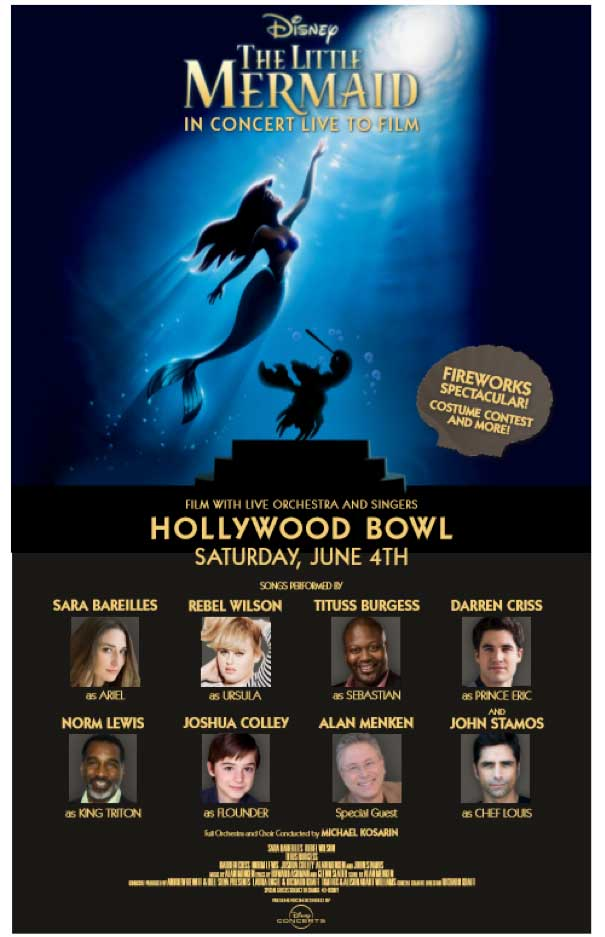 Disney to Present The Little Mermaid In Concert at Hollywood Bowl