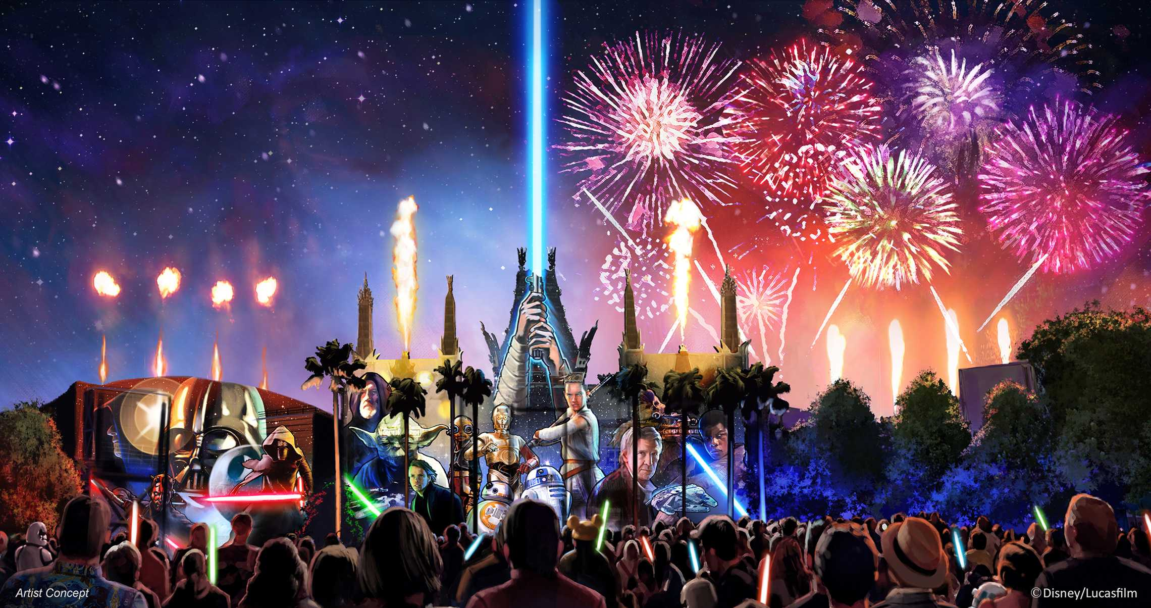 New Star Wars Fireworks Show to Debut June 17
