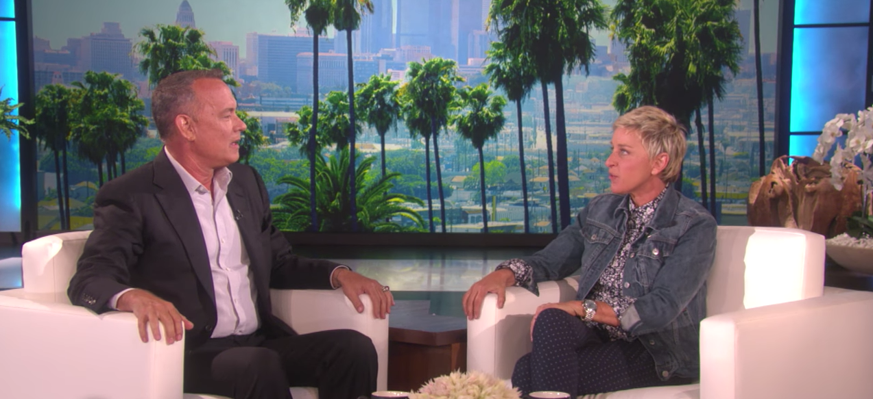 "Woody and Dory Meet as Tom Hanks Appears on ""The Ellen Show"""