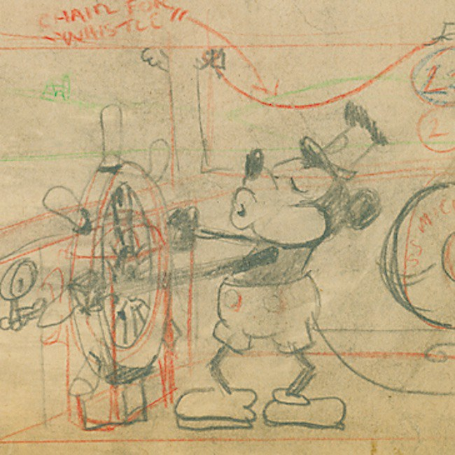 "Historic ""Steamboat Willie"" Draft Up For Auction"