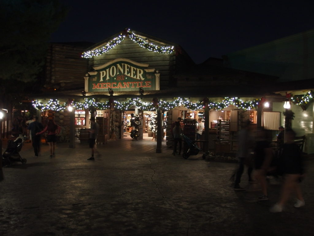 Frontierland is decked out for the holidays