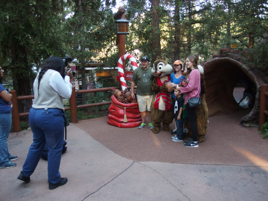 Chip and Dale pose with fans