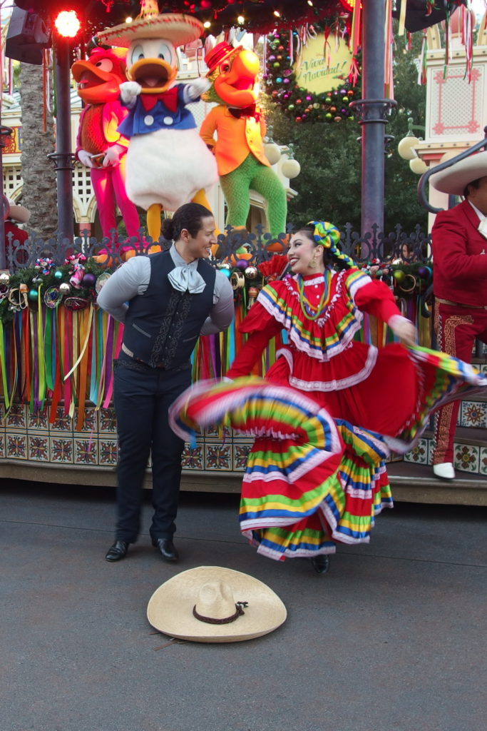 The traditional hat dance is performed to live music