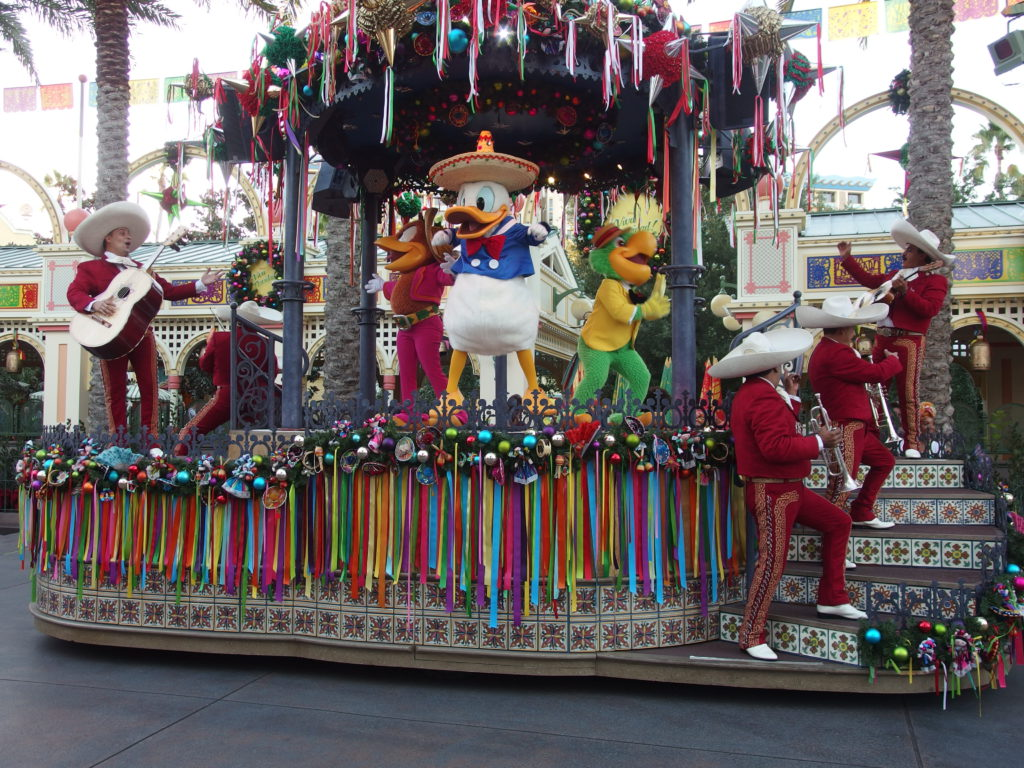 Donald, Jose and Panchito keep the show moving