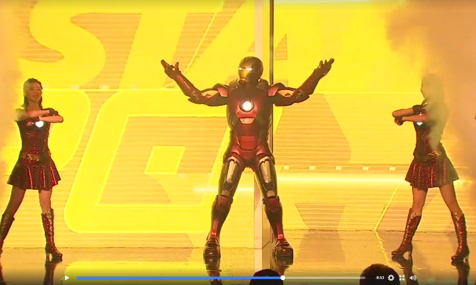 Iron Man and Dancing Girls - Watch the Iron Man Experience Opening Ceremony