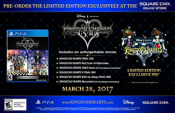 Kingdom Hears HD 1.5 + 2.5 ReMIX Limited Edition Now On Sale