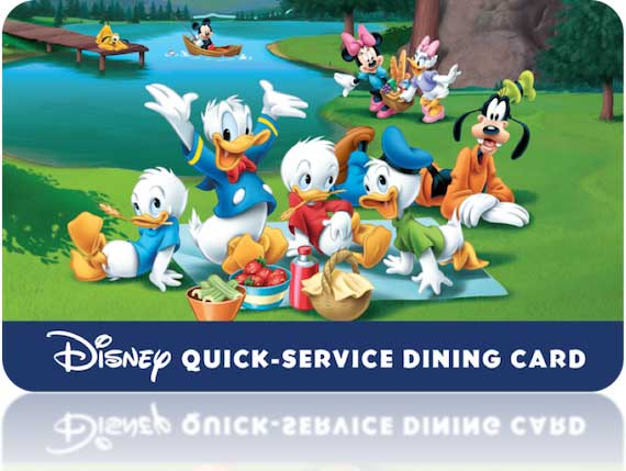 Disney Quick Service Dining Card