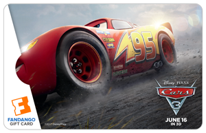 Cars 3 Fandango Gift Card Giveaway