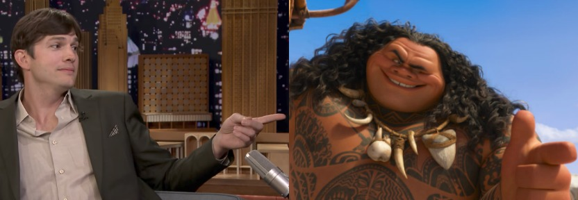 """Ashton Kutcher is All of Us, Can't Stop Singing """"Moana"""" Tunes"""