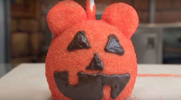 Pumpkin Mickey Candy Apple