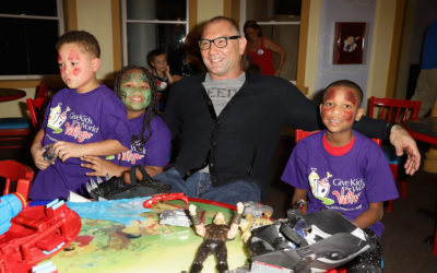 Dave Bautista Delivers Marvel Toys to Give Kids the World
