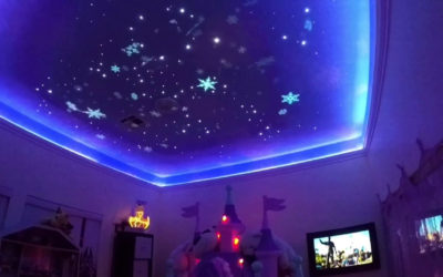 Disney Dad Creates Fireworks Show for Daughter's Bedroom Ceiling