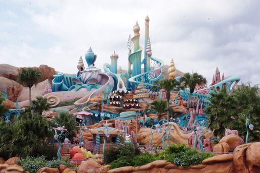 Which one of these attractions is not located in the Mermaid Lagoon in Tokyo DisneySea?