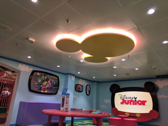 And a big Hidden Mickey on the ceiling