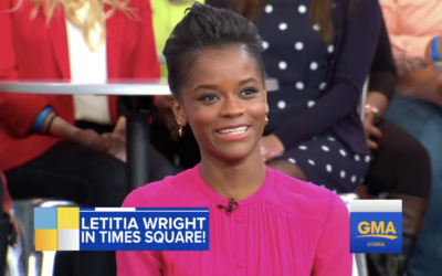 "Letitia Wright Shares ""Infinity War"" Clip on ""Good Morning America"""