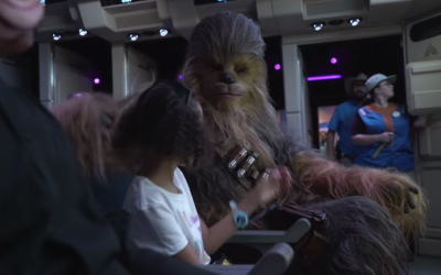 Chewbacca on Star Tours