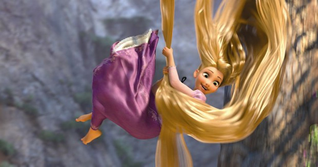 Rapunzel has A LOT of hair. How long are her golden locks?