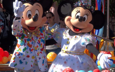 Video: Mickey and Minnie Mouse Celebrate Their 90th Birthday with Dozens of Character Friends at Disneyland