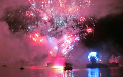 Burning Firework From Illuminations Lands in Viewing Area