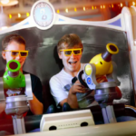 """Disney California Adventure Testing """"Moving Buddy"""" Line for Toy Story Midway Mania"""