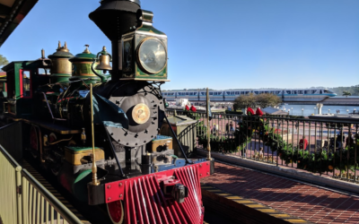 Parked Walt Disney World Railroad Train Opens to Guests