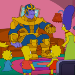 "Thanos Visits ""The Simpsons"" for a Perfectly Balanced Couch Gag"