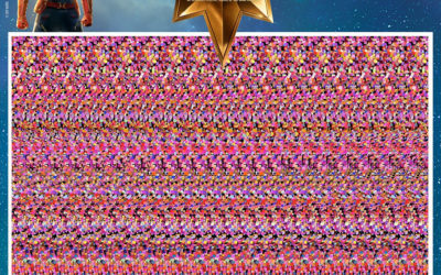 """Marvel Shares """"Captain Marvel"""" Magic Eye Images for Fun 90s Throwback"""
