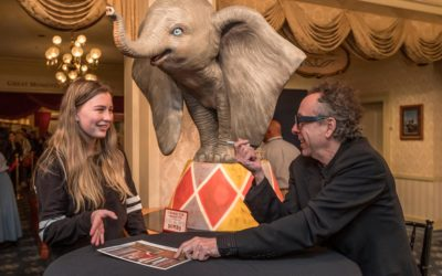 Dumbo Director Tim Burton Surprises Guests at Disneyland