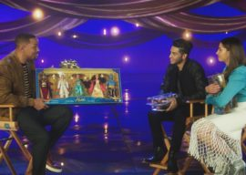 """""""Aladdin"""" Stars React to Seeing Their Hasbro Dolls for the First Time"""