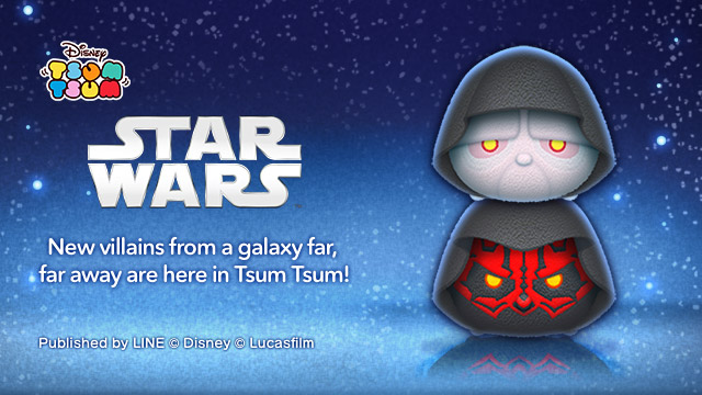 Emperor and Darth Maul from Tsum Tsum game.