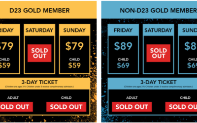 Saturday Tickets for 2019 D23 Expo No Longer Available