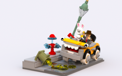 """Who Framed Roger Rabbit"" LEGO Set Idea Created by LEGO Steamboat Willie Designer"