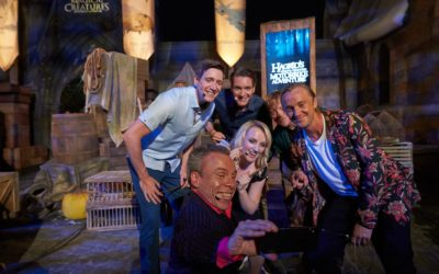 """Harry Potter"" Stars Come to Universal Orlando for Opening of Hagrid's Magical Creatures Motorbike Adventure"