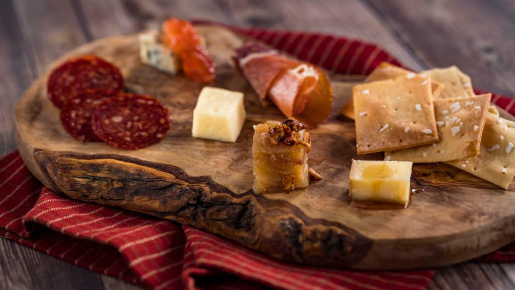 Charcuterie and Cheese from the Appleseed Orchard Marketplace at the Epcot International Food & Wine Festival
