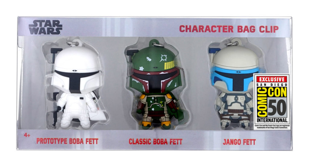 Monogram's Star Wars bag clips, SDCC exclusives