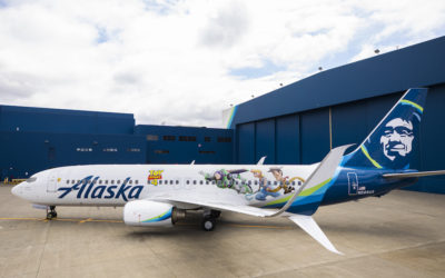 """""""To Infinity And Beyond!"""" Alaska Airlines Debuts """"Toy Story 4"""" Plane"""