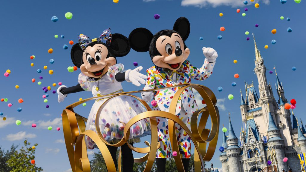 Mickey and Minnie Mouse at Magic Kingdom Park