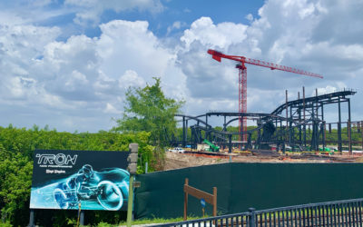Photos: TRON Coaster Update from the Magic Kingdom