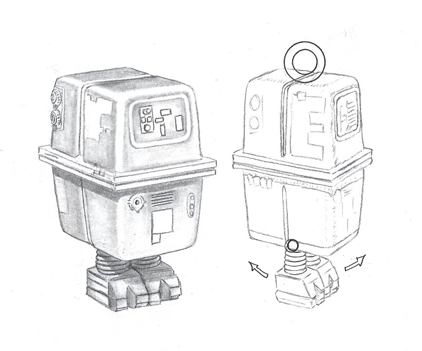 Sketch designs from the new RockLove X Star Wars collection.