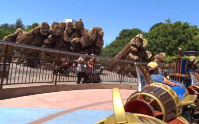 Giant Bronze Rocks Being Removed from Tomorrowland Entrance at Disneyland