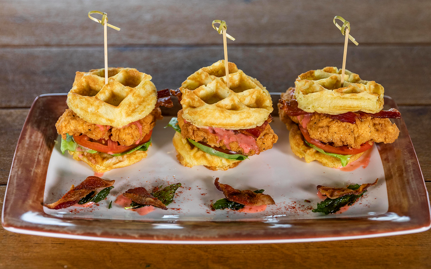 Chicken & Waffle Sliders from Toothsome Chocolate Emporium & Savory Feast Kitchen